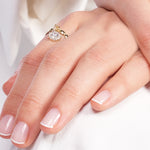 Minimalist Baguette Bounce Chain Gold Plated 925K Silver Ring