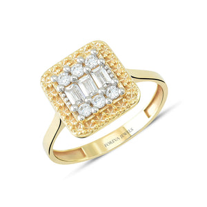 Load image into Gallery viewer, Minimalist Baguette  Stone Gold Plated 925K Silver Ring