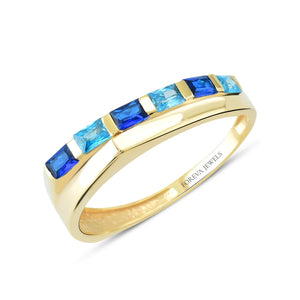 Load image into Gallery viewer, Minimalist Baguette Line Gold Plated 925K Silver Ring