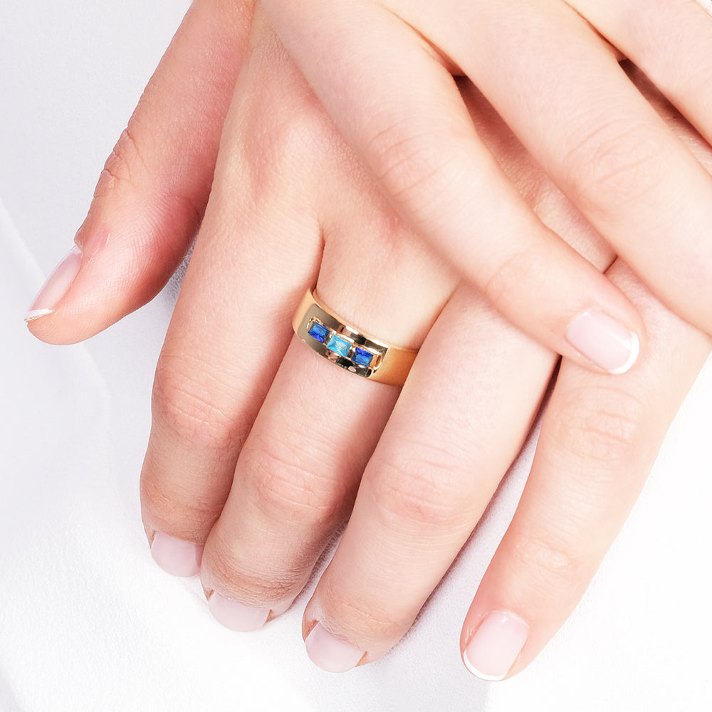 Minimalist Baguette Gold Plated 925K Silver Ring