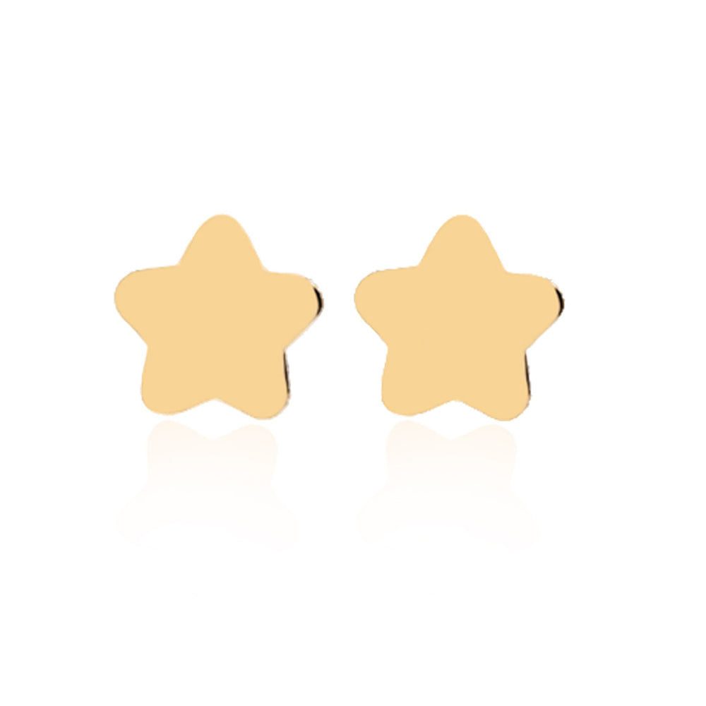 Minimalist Cute Star Design 14K Gold Earring