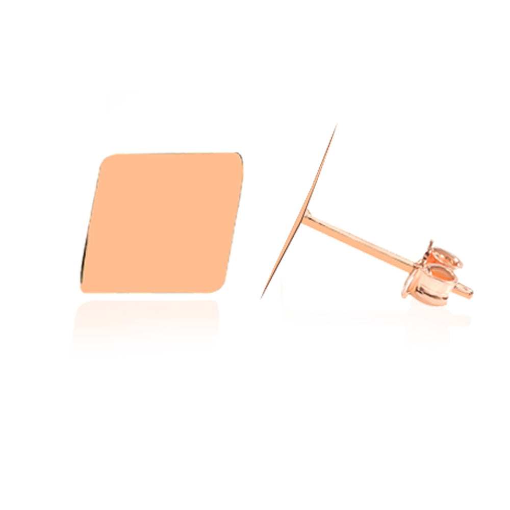 Load image into Gallery viewer, Minimalist Cute Square Side Design 925k Silver Earring