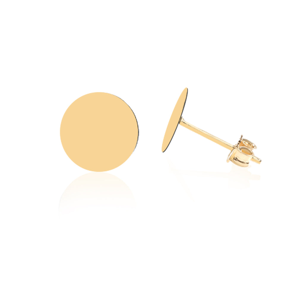 Minimalist Cute Circular Design 14K Gold Earring
