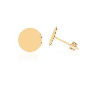 Load image into Gallery viewer, Minimalist Cute Circular Design 14K Gold Earring