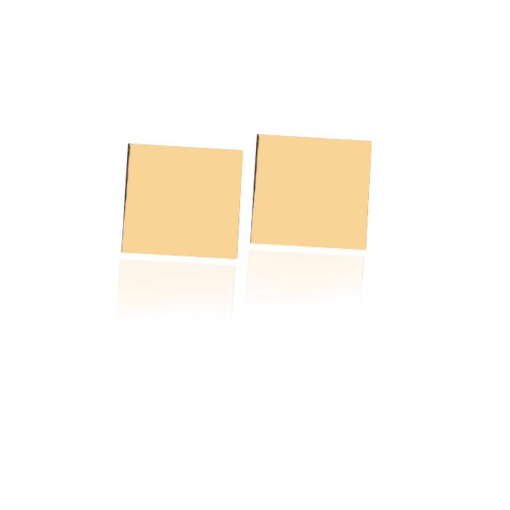 Minimalist Cute Square Shape Design 14K Gold Earring