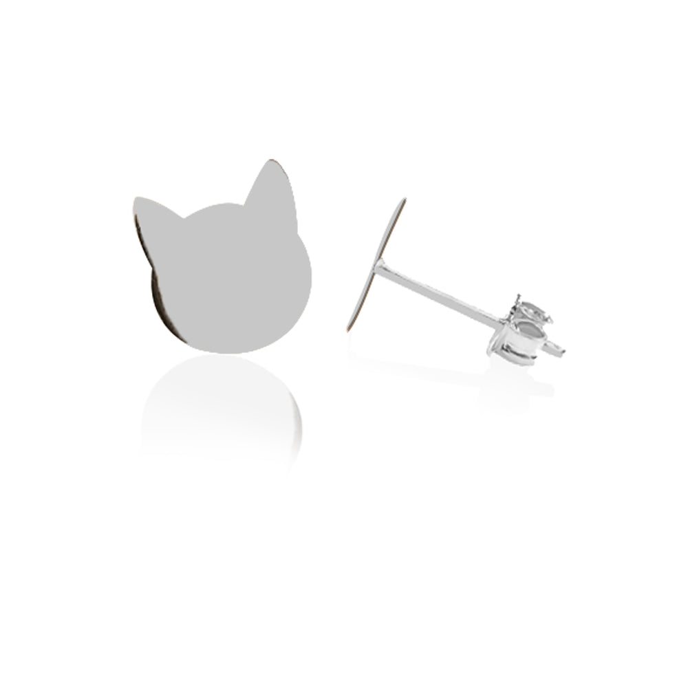 Load image into Gallery viewer, Minimalist Cute Cat Design 14K Gold Earring