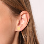 Minimalist Cute Tulip Design 14K Gold Earring