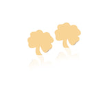 Minimalist Cute Four Leaf Clover For Charm 14K Gold Earring