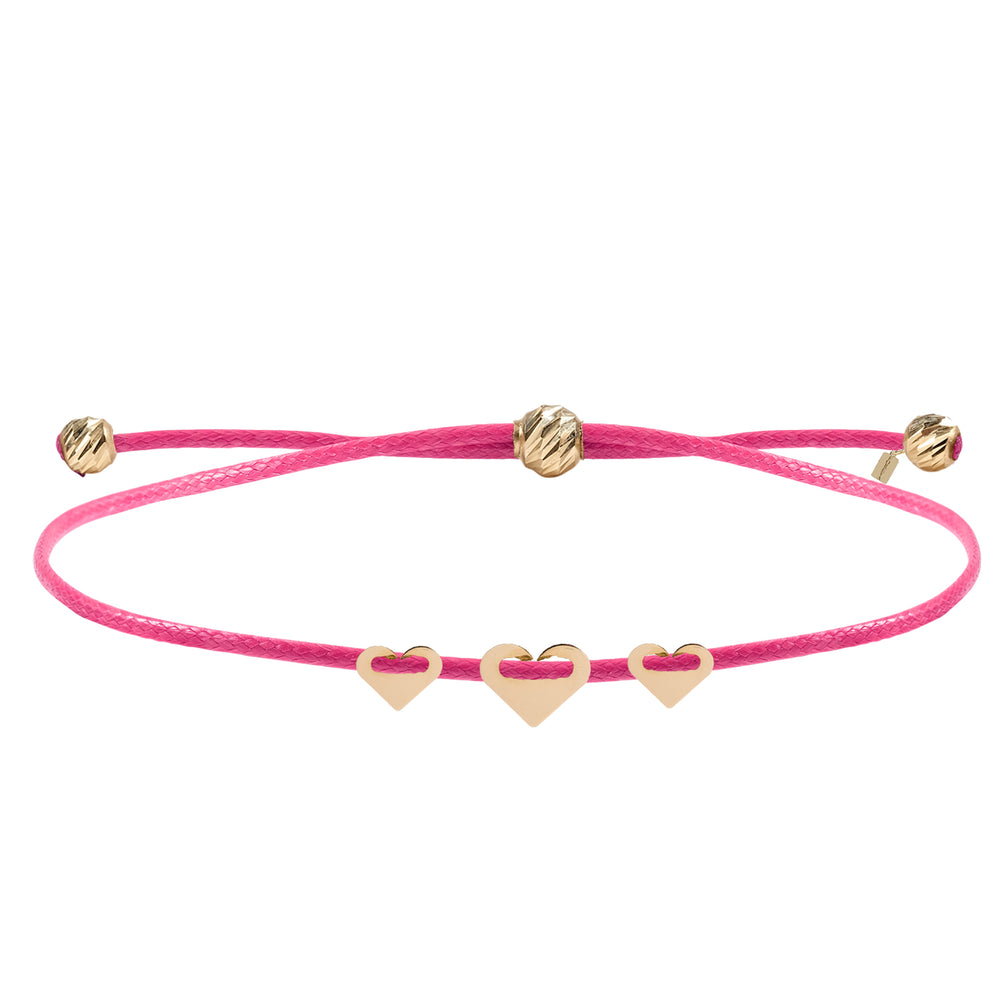 Load image into Gallery viewer, Minimalist Cute Triple Heart Gold Plated 925K Silver Bracelet