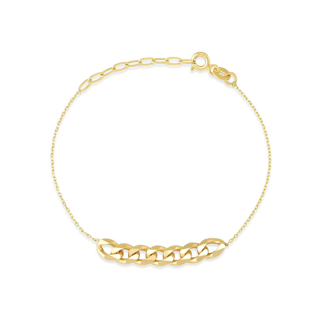 Auger Ring And Bead Gold Plated 925K Silver Bracelet