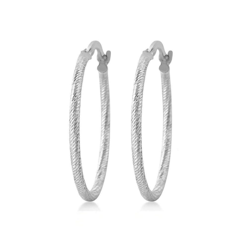 Load image into Gallery viewer, Twisted Hoop 925K Silver Earring