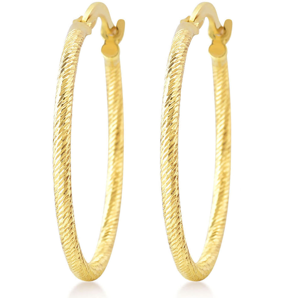 Twisted Hoop 925K Silver Earring