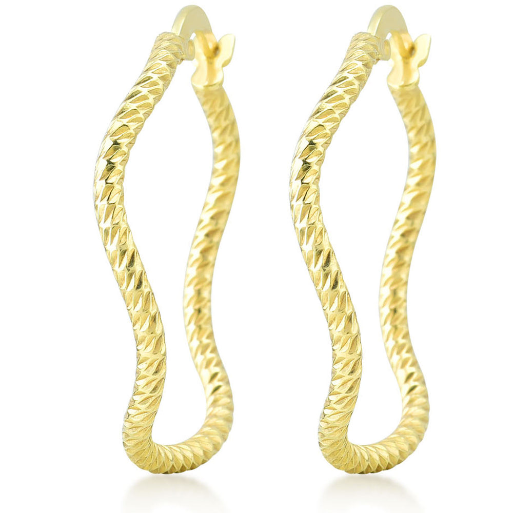 Twisted Wave Rind 925K Silver Earring
