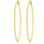 Twisted Big Hoop 925K Silver Earring