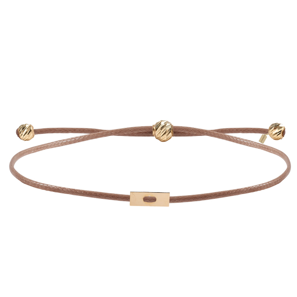 Load image into Gallery viewer, Minimalist Cute Square Shape Design 14K Gold Bracelet