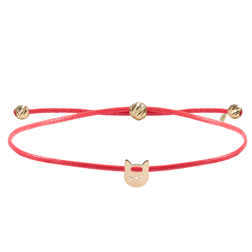 Load image into Gallery viewer, Minimalist Cute Little Cat Gold Plated 925K Silver Bracelet