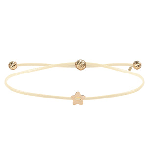 Minimalist Cute Little Star 14K Gold Bracelet