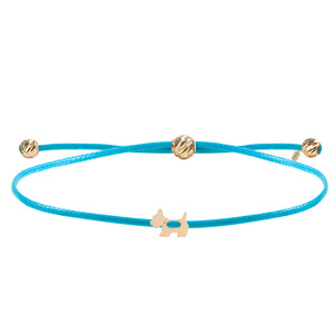 Minimalist Cute Cross Design Gold Plated 925K Silver Bracelet