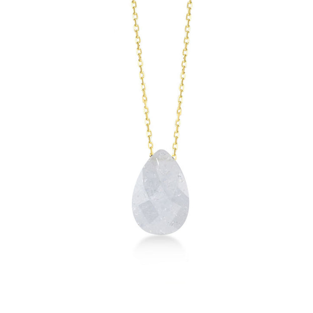 Moon Stone Gold Plated 925K Silver Necklace