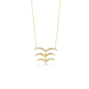 Seagull Gold Plated 925K Silver Necklace