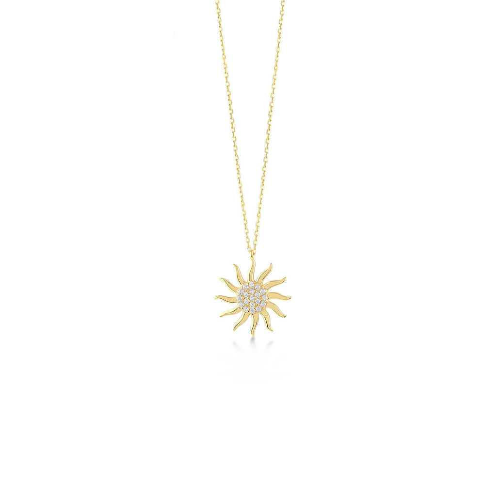Sun Stones Gold Plated 925K Silver Necklace