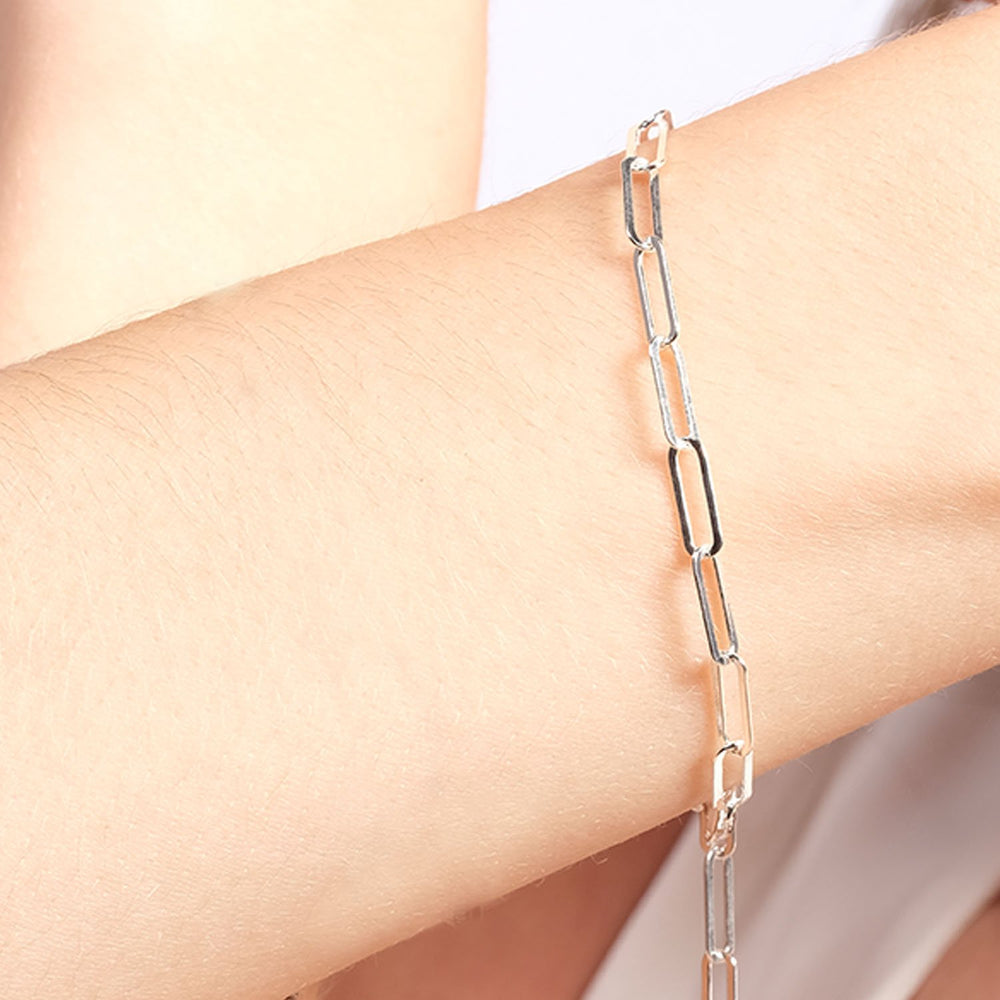 Hook Ring Gold Plated 925K Silver Bracelet