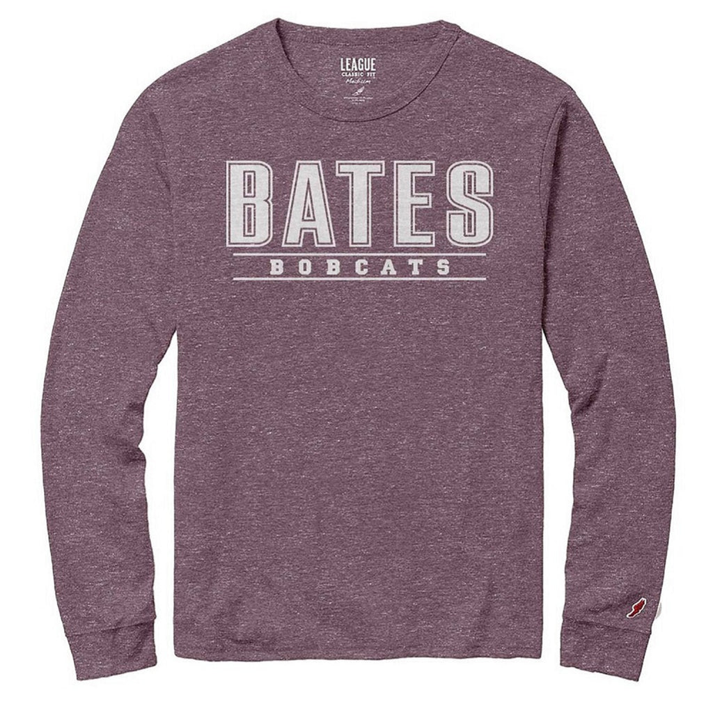Bates Bobcats Twisted Tri-blend Long Sleeve Tee
