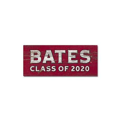 Bates College Small Wooden Sign Class 2020