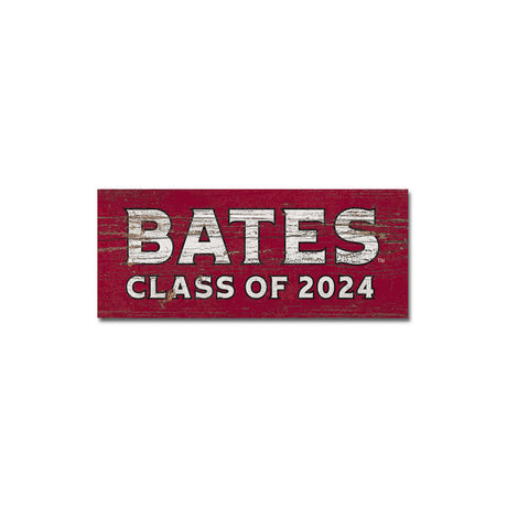 Bates College Small Wooden Sign Class 2024