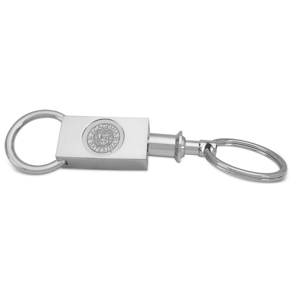Silver Plated Two Sectional Key Ring
