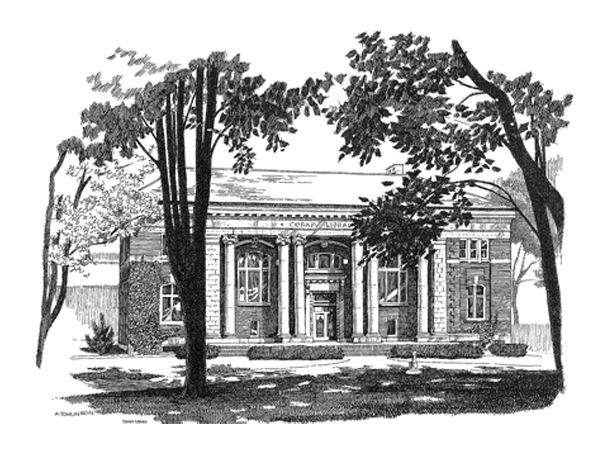 Single Pen & Ink Coram Library
