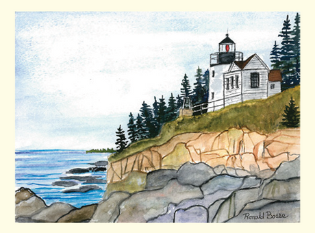 Single Bass Harbor Head Lighthouse Card