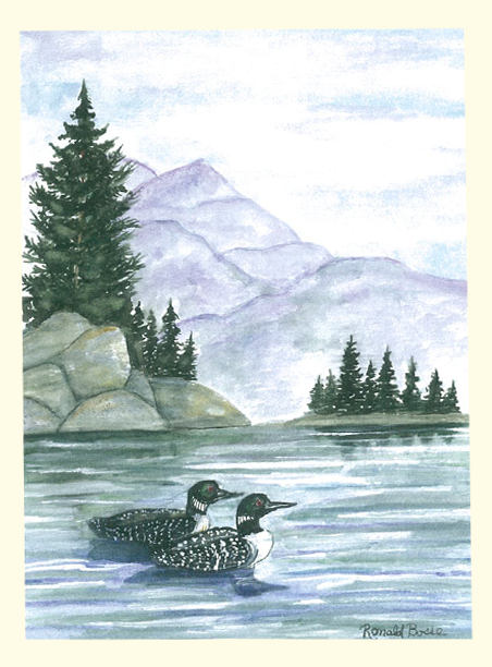 Single Loons Card