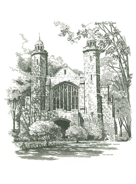 Single Pen & Ink Chapel Print