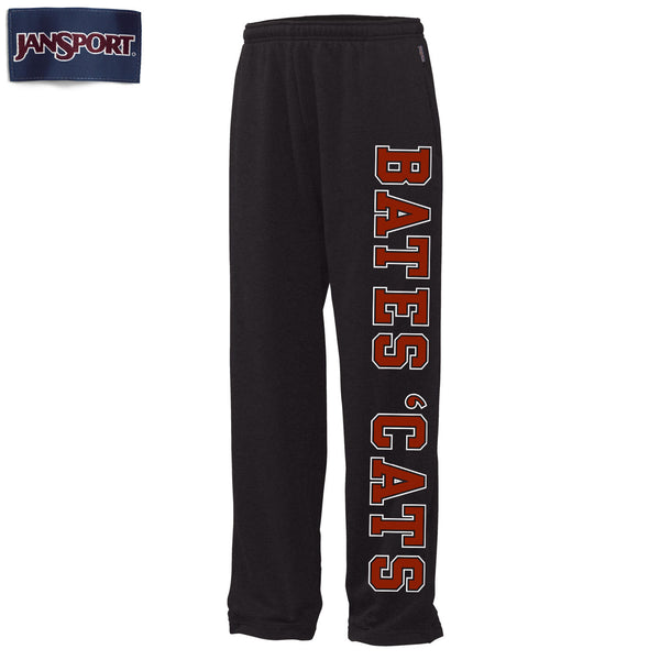 Open-bottom Fleece Sweatpants with Pockets