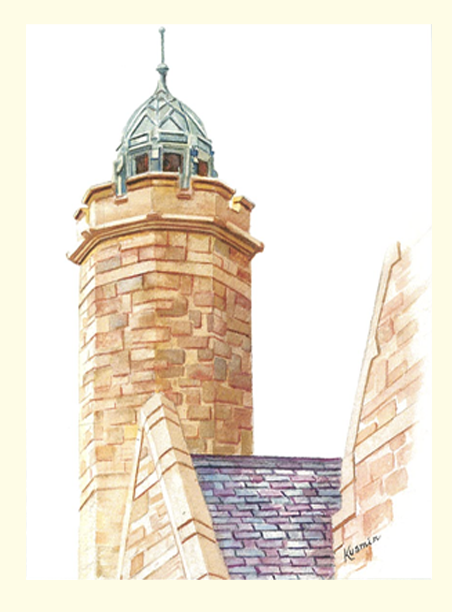 Single Gomes Chapel Tower  Card