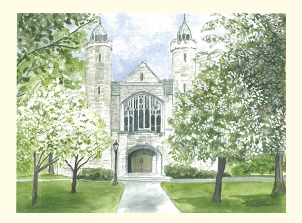 Single Chapel in Spring  Card