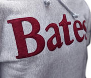 Bates Wordmark Hoodie with Felted Letters - Gray