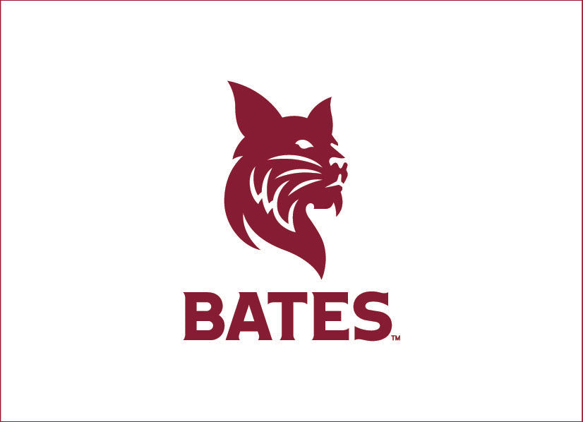Single Bobcat over BATES Greeting Card