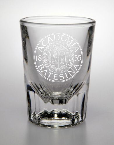 2oz Shot Glass with Bates Seal Etched