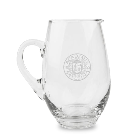 Glass Pitcher with Etched Bates Seal
