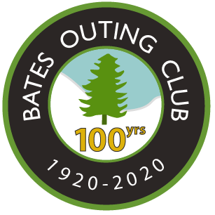 Bates Outing Club 100 Years Lapel Pin