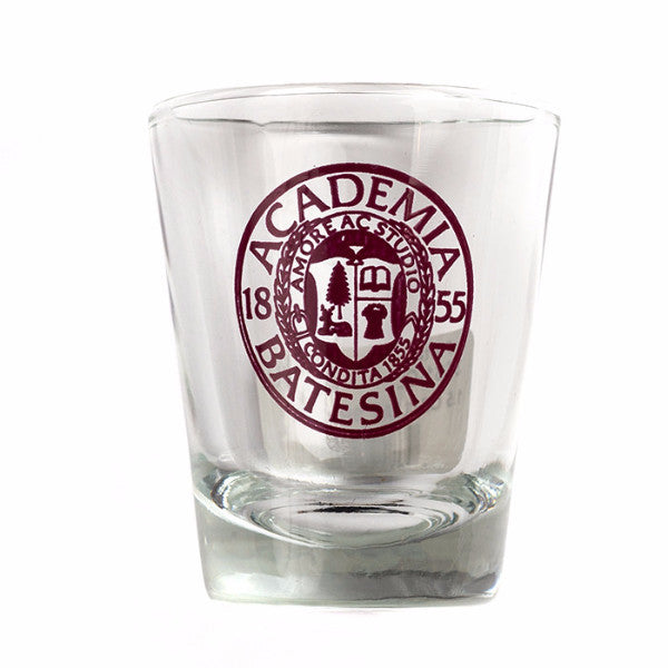 1.5oz Shot Glass With Bates Seal imprinted