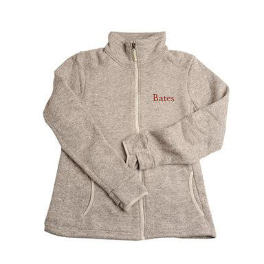 Womens Oatmeal Heathered Fleece Full Zip - Women's, Women's Outerwear