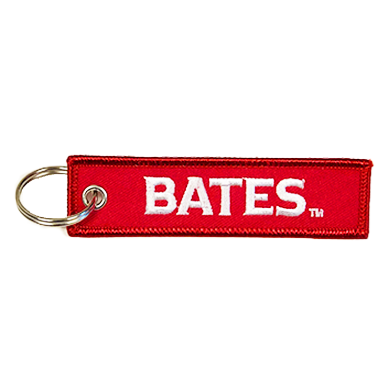 Bates Embroidered Key Tag
