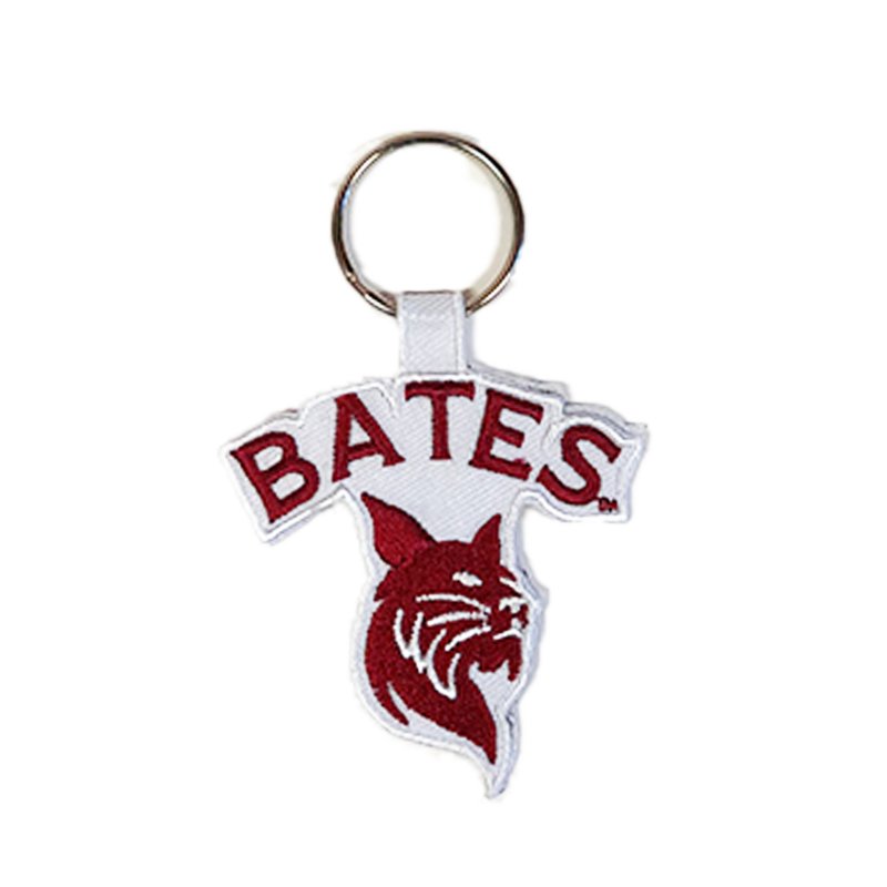Bates Bobcat Die Cut Key Chain