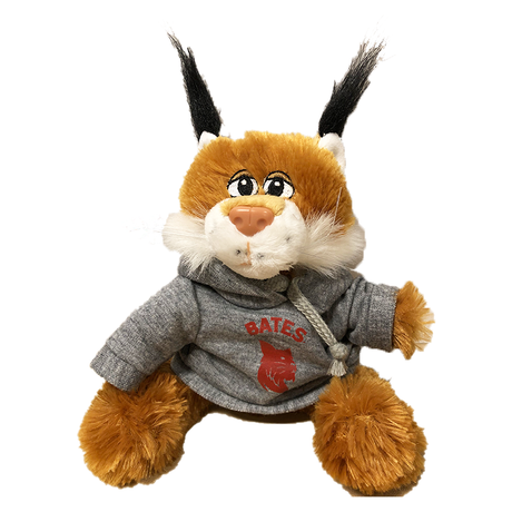 Plush Bobcat with Sweatshirt