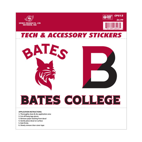 Bates Decal Stickers, Set of 3