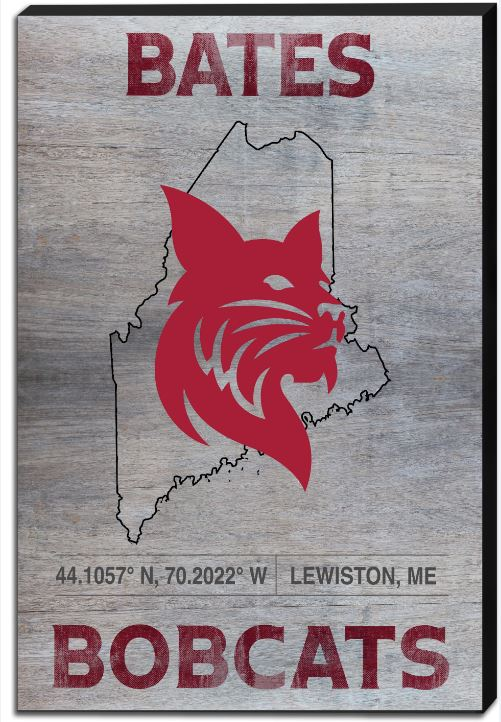 Bates Bobcats State of Maine Canvas Art