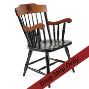 Engraved Maple Captain's Armchair